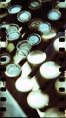 Typewriter 2 (Giona4) Tags: film analog vintage lomo xpro lomography doubleexposure lubitel analogicait