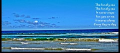 SEA the SEE (Doddamalluraprameya) Tags: sea sky water lonely tides samudra kadal