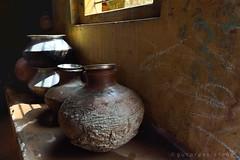 WATER (gurpreet_singh.) Tags: light india window water nikon storage pot shade d4 scarcity vollage earthern
