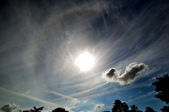 Partial Sun Halo (Dave McGlinchey) Tags: sun ice water rain clouds solar cloudy halo atmosphere atmospheric vapour icecrystals partial cloudscapes optic d5000