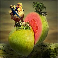The Guava (jaci XIII) Tags: field fruit surrealism palm ox fruta fantasy fantasia campo guava boi palmeira surrealismo goiaba digitalmania