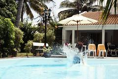 jump (Sigita JP) Tags: summer vacation holiday water pool palms drops jump funny action villa splash mauritius