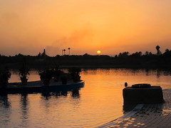 Sunset over the Infinity Pool and River Nile, Jolie Ville Hotel, Luxor, Egypt (Andy_Hartley) Tags: africa travel sunset pool egypt nile swimmingpool luxor infinitypool rivernile jolievillehotel mygearandme