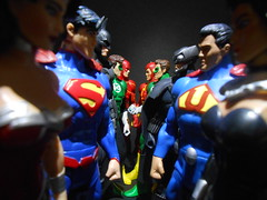 Justice League vs Crime Syndicate (D-man07) Tags: new 2 two america comics justice dc earth crime classics universe amerika crisis earths league collectibles 52 syndicate jla