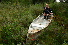 Hector Lake (Marko Stavric) Tags: park summer canada mountains abandoned rockies bush nikon hole rocky august canoe national alberta amelie parkway banff canoeing wreck wrecked icefields icefieldsparkway canoer shipwrecked wit
