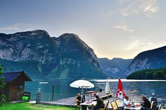The Backyard of a Hostel in Obertraun (jerryjcwu) Tags: travel summer water austria countryside scenery europe nikkor hallstatt d600 obertraun nikonafsnikkor1835mmf3545ged