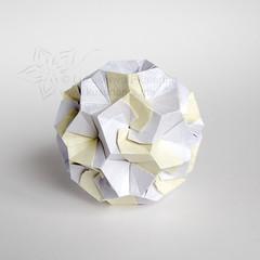 Diamond rundist (_Ekaterina) Tags: origami modular paperfolding unit modularorigami kusudama unitorigami kusudamaorigami lukasheva ekaterinalukasheva