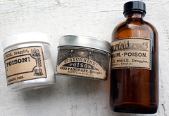 Vintage Poison Apothecary Bottle Labels (soapdeligirl) Tags: halloween vintage diy crafts labels craftproject printables apothecarybottle printablelabels