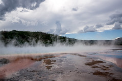 Yellowstone (Ross L (Instagram - @ThisisRossco)) Tags: landscape cloudy sony overcast steam land yellowstone geothermal nex5r