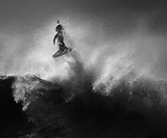 Blown Away (McSnowHammer) Tags: bw france mono la flying big action air explosion wave hossegor surfing infrared pro bianca splash roxy whitewash graviere 2013 buitendag