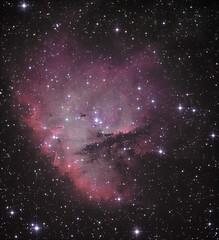 Pac-Man Nebula Experiment LRGB/HaOIII (Chuck Manges) Tags: pacman ngc281 qhy9m ed102tcf