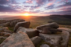 Burbage Rocks Sunset (SLP_Photography) Tags: park light sunset canon rocks glow district derbyshire peak national burbage 60d 1116mm