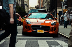 F-Type (McManF1) Tags: new york orange newyork building manhattan empirestate british jaguar crosswalk flatiron ftype