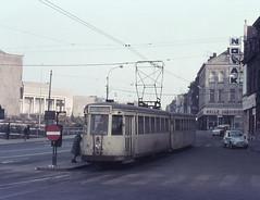 Once upon a time - Belgium - Charleroi (railasia) Tags: belgium wallonia charleroi nmvbsncv grouphainault interurban metergauge routenº31 motorcartrailer infra tramstop stopsign singletrack sixties