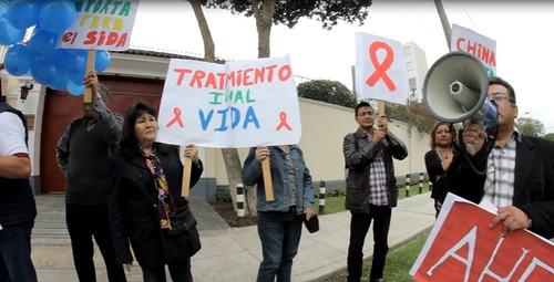 Peru: China Global Fund Protest