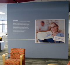 Applied Wall Vinyl and Dimensional Sign | Signarama Louisville Downtown, KY | Humana