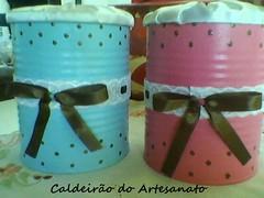 Porta Algodão (Caldeirão do Artesanato) Tags: portatreco latadecorada artesanatoemlata reciclandolata