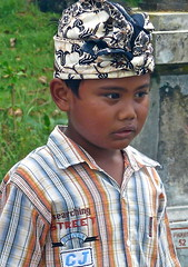 Portrait of a young boy . (Franc Le Blanc .) Tags: boy bali indonesia lumix child candid ceremony panasonic hindu kuta legian cremation