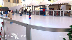 Synthetic ice rink in Seville, Spain (XTRAICE) Tags: christmas las ice de sevilla spain skating fake artificial surface seville skaters sheets plastic parasol skate rink panels pista hielo synthetic ecological setas metrosol