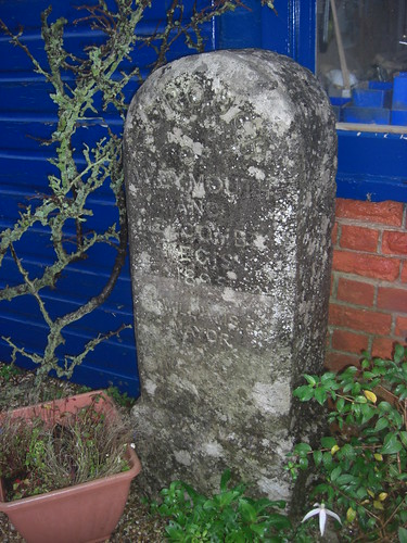 Weymouth and Melcombe Regis Boundary stone dated 1895