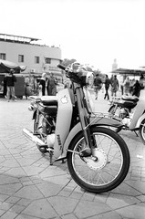 Scan-131230-0033.jpg (mathendrix) Tags: africa street analog blackwhite motorbike marrakech roll2 nikonf3 marroco fujineopan400 homedeveloping 2013 nikoncoolscan5000ed