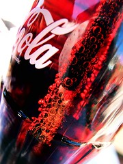 Bubbles.... (DawnWarrior) Tags: macro reflection classic glass sunshine bottle fuji cola straw bubbles fujifilm coca compact exr xf1 dawnwarrior