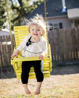 Erin Rose Playing on Her Swing