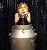 Lady Houdini, Dayle Krall performing Houdini's Milk Can (lady.houdini) Tags: water escapes houdini milkcan breathhold richardsherry daylekrall femaleescapeartist ladyhoudini