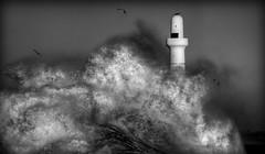 Aberdeen Harbour Storm (PeskyMesky) Tags: lighthouse storm canon harbour aberdeen northsea aberdeenharbour northeastscotland aberdeenbeach canoneos500d