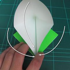 วิธีพับกระดาษเป็นจรวด X-WING สตาร์วอร์ (Origami X-WING) 004