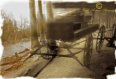 Days long passed1 (E.B Anderson Photo-Email: billybob1959a@gmail.com) Tags: history museum sepia wagon rustic mining western past ghosttowns