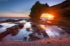 Batu Bolong (Pawel Papis Photography) Tags: ocean travel sunset sea sky bali cliff cloud holiday seascape beach nature water rock stone indonesia landscape island temple sand ancient worship asia traditional religion culture lot wave landmark tropical hinduism pura batu tanahlot tanah bolong