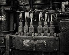 Diesel 1 (alhawley) Tags: blackandwhite industrial diesel pentax caterpillar hd hdr k3 vintagemachine pentaxlimited pentaxlife justpentax americanabstract pentaxk3 limitedsilveredition hdpentax15mmf4edallimited