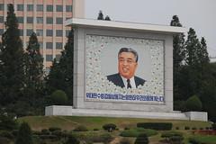 Kim Il-sung Mural in Pyongyang (Ray Cunningham) Tags: north korea pyongyang dprk coreadelnorte
