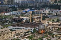 Scene Pyongyang city (Frühtau) Tags: city people skyline buildings factory view society pyongyang dprk