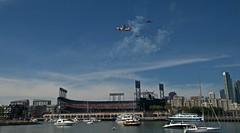 Opening Day 4-2014 (daver6sf@yahoo.com) Tags: coastguard baseball sanfranciscobay openingday mlb thegiants attpark theflyover