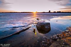 (ericvilendrerphoto) Tags: light sunset lake ice water minnesota landscape sand nikon angle minneapolis shore lifeguardtower uwa d600 lakecalhoun widewide