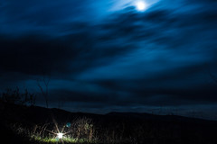 Guiding Lights (blue mountain thyme) Tags: light moon mountains skyscape idaho rockymountains lantern lunareclipse bloodmoon