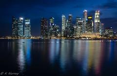 Singapore CBD at night (Keith Nurney) Tags: singapore cityscapes marinabay nightviews singaporeflyer