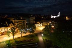 Rynek w Dębicy nocą