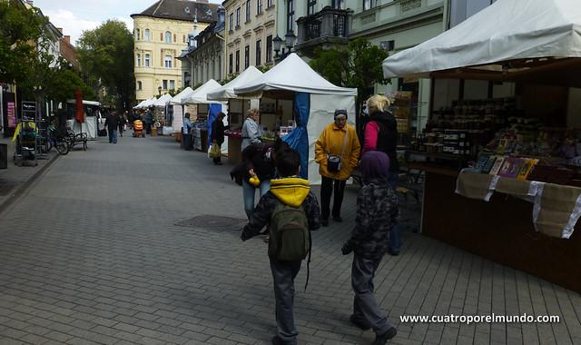 Callejeando por el mercado de pascua de Gyor