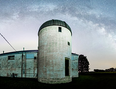 Observatory (Erik Johnson Photography) Tags: sky building abandoned night way stars midwest nebraska space observatory galaxy astrophotography milky