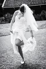 Bride (♥siebe ©) Tags: wedding blackandwhite holland monochrome dutch bride outdoor marriage trouwen 2015 bruid trouwfoto trouwreportage bruidsfoto siebebaardafotografie wwweenfotograafgezochtnl