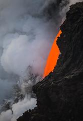 Lava Firehose (geekyrocketguy) Tags: kalapana lava firehose fire hose hawaii bigisland volcano volcanoes nationalpark 61g