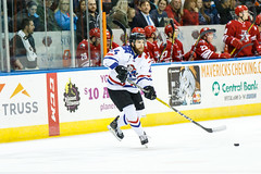 """Missouri Mavericks vs. Allen Americans, March 3, 2017, Silverstein Eye Centers Arena, Independence, Missouri.  Photo: John Howe / Howe Creative Photography • <a style=""""font-size:0.8em;"""" href=""""http://www.flickr.com/photos/134016632@N02/32430578304/"""" target=""""_blank"""">View on Flickr</a>"""