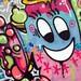 Graffiti with happy face