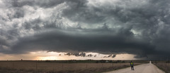 Muenster Texas Supercell (Kelly DeLay) Tags: panorama panoramic supercell stormchasing stormscape weather weatherphotography texasweather selfportrait sky cloudscape