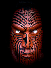 Maori carving of facial tattoo (loveexploring) Tags: maoricarving northland carving facetattoo moko tamoko