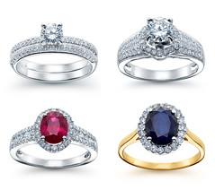 Rings product shots (yeloow.pl) Tags: ring gold golden diamond jewelry gems sapphire ruby white product background stone yellow blue red light precious engagement