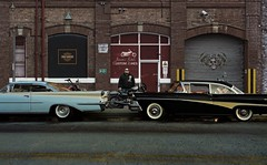 Cam new rides (gpholtz) Tags: diorama miniatures 118 diecast 1958 1959 ford fairlane oldsmobile 98